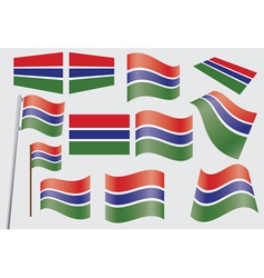 flag of Gambia vector image vector image