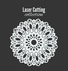 laser flower cut the template frame floral vector image