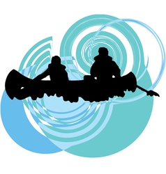 Rafting on the rapids vector image