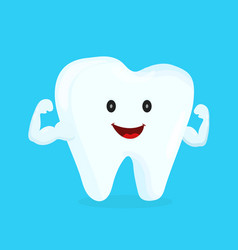 strong happy healthy white tooth vector image vector image