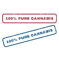 100 Percent Pure Cannabis Rubber Stamps vector