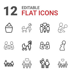 12 mom icons vector