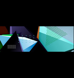 3d triangular shapes geometric background origami vector image
