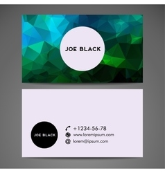Abstract creative business card vector