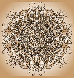 Abstract mandala ornament asian pattern golden vector
