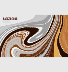 abstract mixed gray brown and yellow waves and vector image