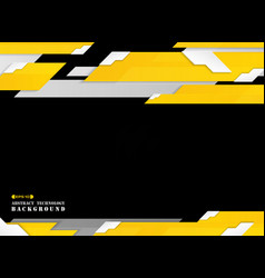 abstract of futuristic gradient yellow stripe vector image