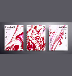 Abstract poster pack modern design vector
