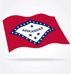 Arkansas ar state flag waving vector