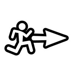 arrow symbol vector image