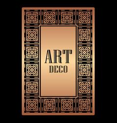 art deco border frame vector image