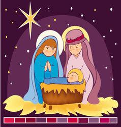 Baby-Jesus-in-a-manger-3 vector