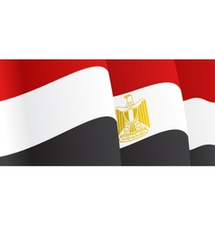 Background with waving Egyptian Flag vector image