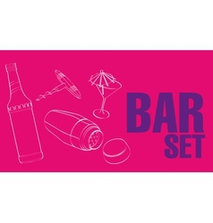 Bar Restaurant Theme vector image