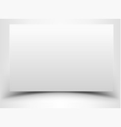 Blank white sheet paper with shadow vector
