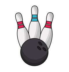 Bowling ball sport game vector