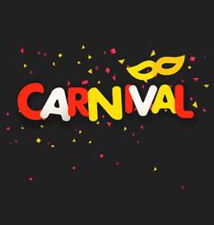brazilian traditional carnival concept festive vector image
