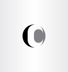 c letter circle black icon logo vector image