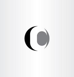 C letter circle black icon logo vector