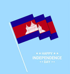 Cambodia independence day typographic design with vector