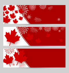 Canada day banner design with copy space vector