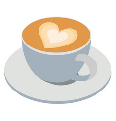 Cappuccino coffee on white background vector