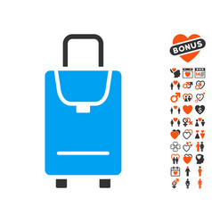 Carryon icon with dating bonus vector
