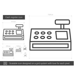 cash register line icon vector image
