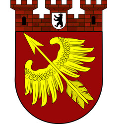 Coat of arms of wedding in berlin germany vector