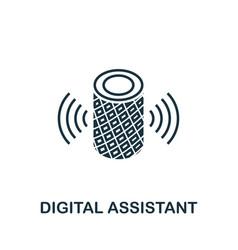 Digital assistant outline icon creative design vector