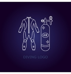 Diving logo vector