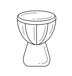 Djembe line icon vector