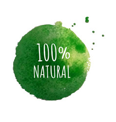 eco label isolated vector image