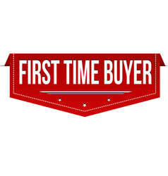First time buyer banner design vector