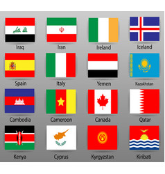 flags of all countries of the world part 5 vector image