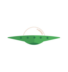 Flat flying saucer ufo alien spaceship vector