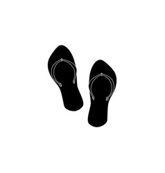 flip flops icon black on white background vector image