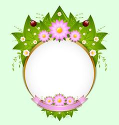 Floral spring decoration vector