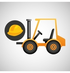 forklift truck construction helmet icon graphic vector image