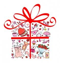 Gift tor girl vector