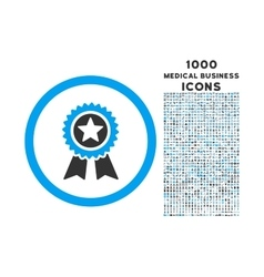 Guarantee Rounded Icon with 1000 Bonus Icons vector