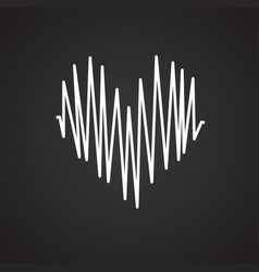 Heart rate on black background vector