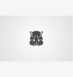 hippopotamus icon sign symbol vector image