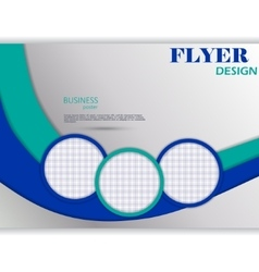 horizontal flyer template for design vector image