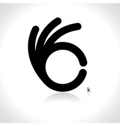 Icon ok vector