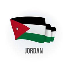 Jordan flag bended flag realistic vector