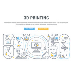 linear banner 3d printing vector image