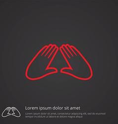 massage outline symbol red on dark background logo vector image