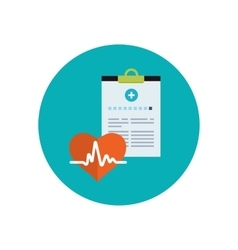 Medical history flat icon vector