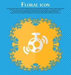 Mirror ball disco Floral flat design on a blue vector